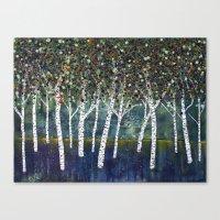 Evening Aspens Canvas Print