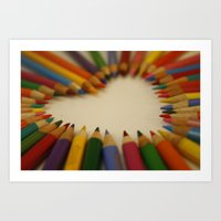you color my world  Art Print
