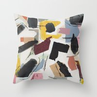 Large Collage With Paint… Throw Pillow
