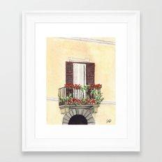 Italian Balcony Framed Art Print
