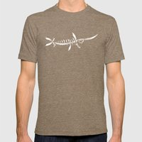 Swordfish Mens Fitted Tee Tri-Coffee SMALL