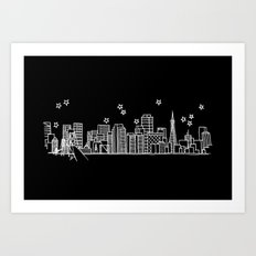 San Francisco, California City Skyline Art Print