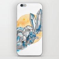 Blue Metallic Crystals iPhone & iPod Skin