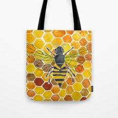 Bee & Honeycomb Tote Bag