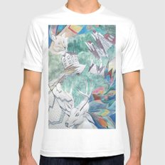 Animals SMALL Mens Fitted Tee White