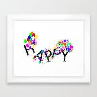 Just Happy Framed Art Print