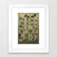 Asymmetry Framed Art Print