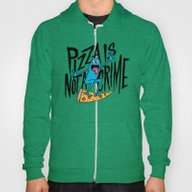 Pizza Is Not A Crime Hoody