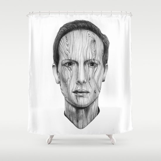 Wood Man Shower Curtain