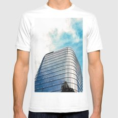 Big Building Mens Fitted Tee White SMALL