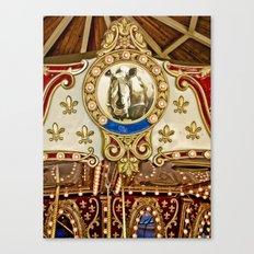 Rhinocerous Carousel at Fair Canvas Print
