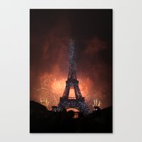 As France Celebrates Their Nation's Birthday Canvas Print