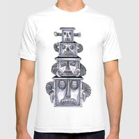 Robo Totem 1 Mens Fitted Tee White SMALL