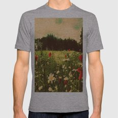 Poppies In Pilling  Mens Fitted Tee Athletic Grey SMALL