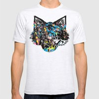 The Creative Cat (Alt. Colorway) Mens Fitted Tee Ash Grey SMALL