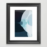 Behind The Teal Curtain Framed Art Print
