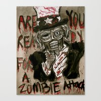 Zombie Sam Canvas Print