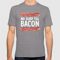 No Sleep Till Bacon Mens Fitted Tee Tri-Grey SMALL