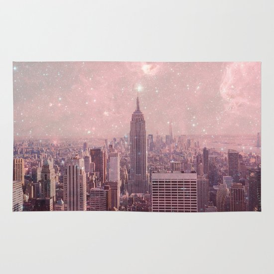 Stardust Covering New York Area & Throw Rug