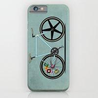 iPhone & iPod Case featuring Fixie Bike by Wyatt Design