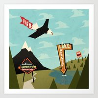 Outdoor Advertisement Art Print