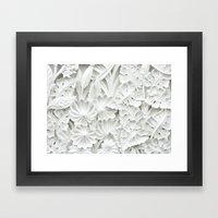 White&Classy Framed Art Print