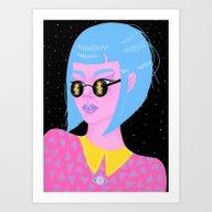 Art Print featuring Moonglasses After Dark by Madelen Foss