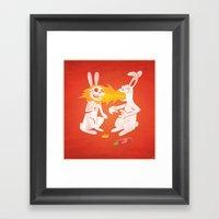 Fire Bunny Framed Art Print