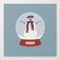 Let it snow, man! Canvas Print