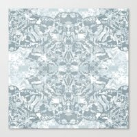 Lace Geometric // Kaleid… Canvas Print