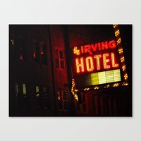 The Irving Park Hotel ~ … Canvas Print