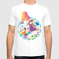Ambrosia With Balloon Mens Fitted Tee White SMALL