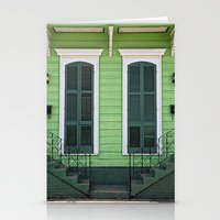 Green Creole Cottage Stationery Cards