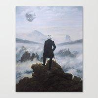 Homage To Caspar David F… Canvas Print