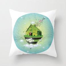Rumah Kata Throw Pillow