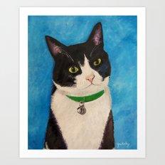 Moo the Cat Art Print