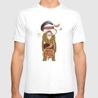 L'homme Moderne Mens Fitted Tee White SMALL