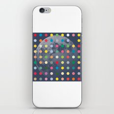 Blue Moon With Multi-Coloured Dots iPhone & iPod Skin