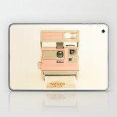 Pink Pola Love vintage camera Laptop & iPad Skin