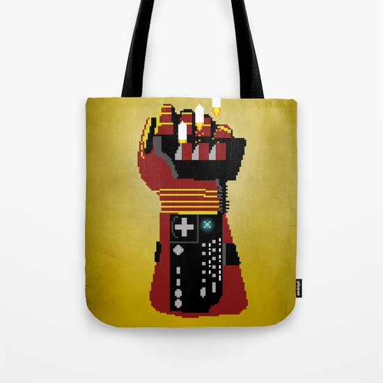 Power Glove Love: Iron Man Tote Bag