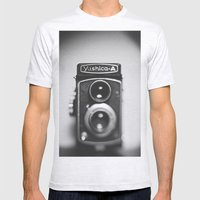 Yashica-A Black And Whit… Mens Fitted Tee Ash Grey SMALL