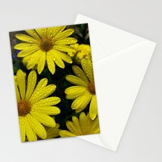 Yellow Flowers After the Misting Stationery Cards