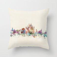 milan italy skyline Throw Pillow