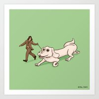 Neverending Dog Show Art Print
