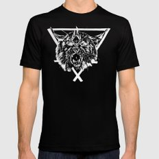 Fire Lynx Black SMALL Mens Fitted Tee