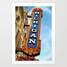 Michigan Theater, Ann Arbor Art Print