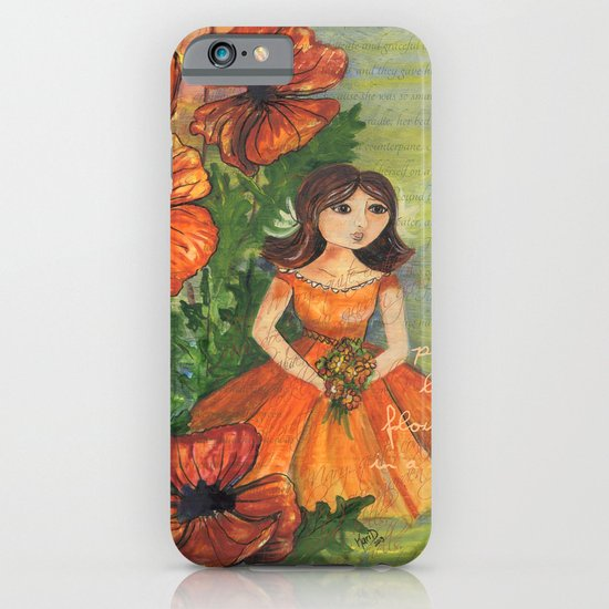 Pretty flowers in a row iPhone & iPod Case