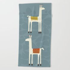 Everyone lloves a llama Beach Towel