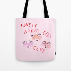 Lovely angry girl club Tote Bag