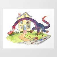 STAY! STAAAY! Art Print